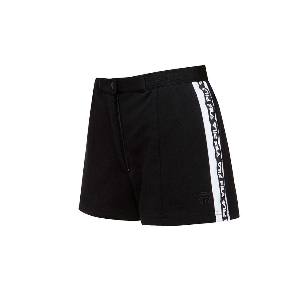 FILA #漢城企劃 女款針織短褲-黑 5SHT-1423-BK