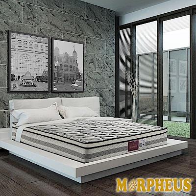 夢菲思 真三線天絲棉+竹碳紗+羊毛+透氣強化蜂巢式獨立筒床墊-雙人加大6尺