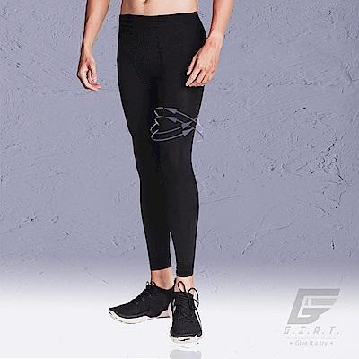 GIAT 類繃分壓躍動機能褲(男款-極簡黑)