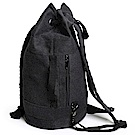 TX0814BK抽繩帆布束口運動背包(可單肩背)黑色