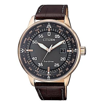 CITIZEN 星辰簡約質感光動能腕錶/BM7393-16H
