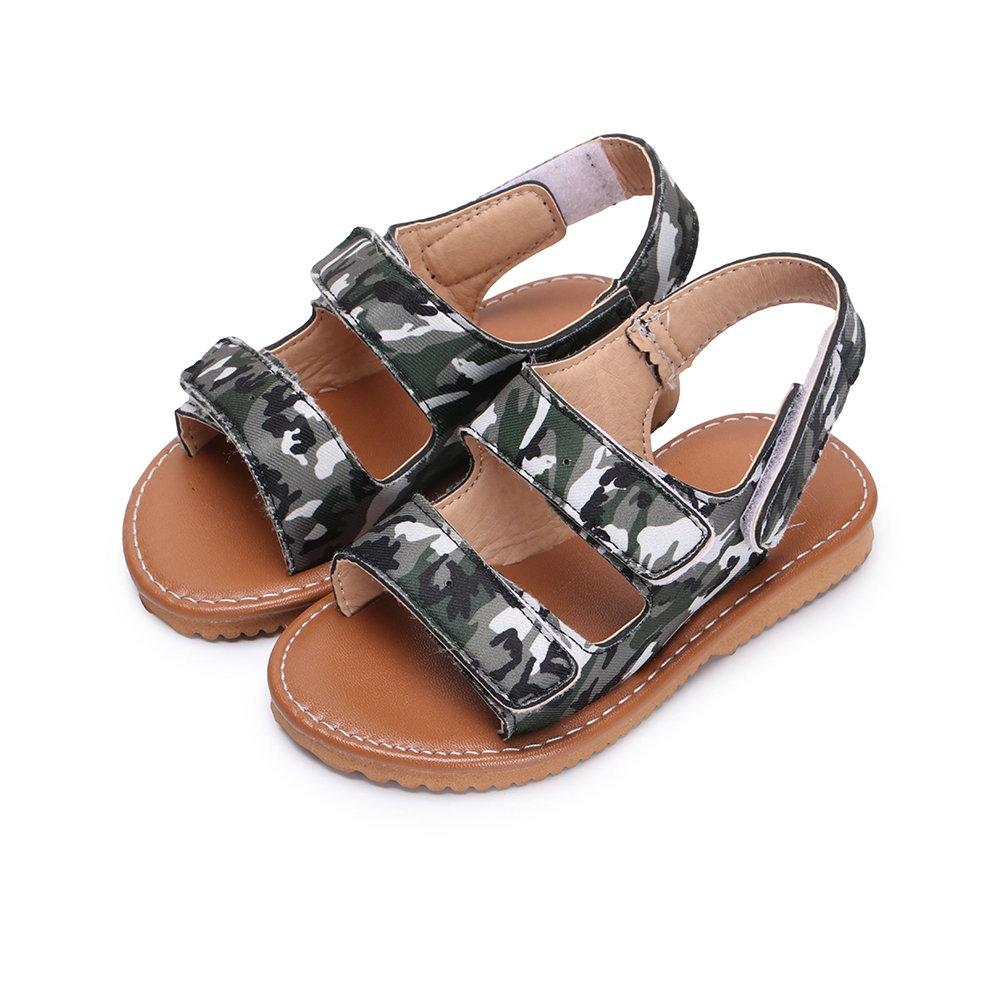 BuyGlasses 帥氣豹紋迷彩兒童涼鞋-迷彩