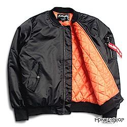 Monkey Shop 軍裝風MA1飛行夾克鋪棉防風外套-3色