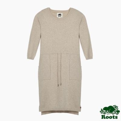 Roots 女裝- 摩登週間系列 針織洋裝-米白色