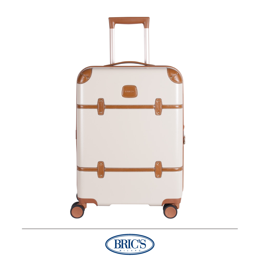 BRICS 義大利經典款 21吋 防潑水拉鍊箱 米白色 飛機輪