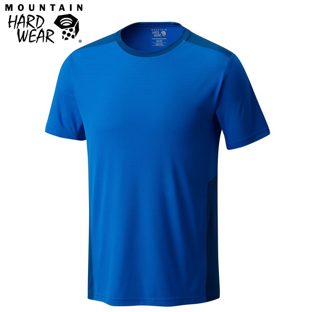 Mountain Hardwear 男款-快排短袖T恤-藍色 MOM01630BL