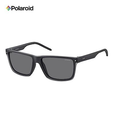 Polaroid PLD 2039/S -俐落方框太陽眼墨鏡 黑色