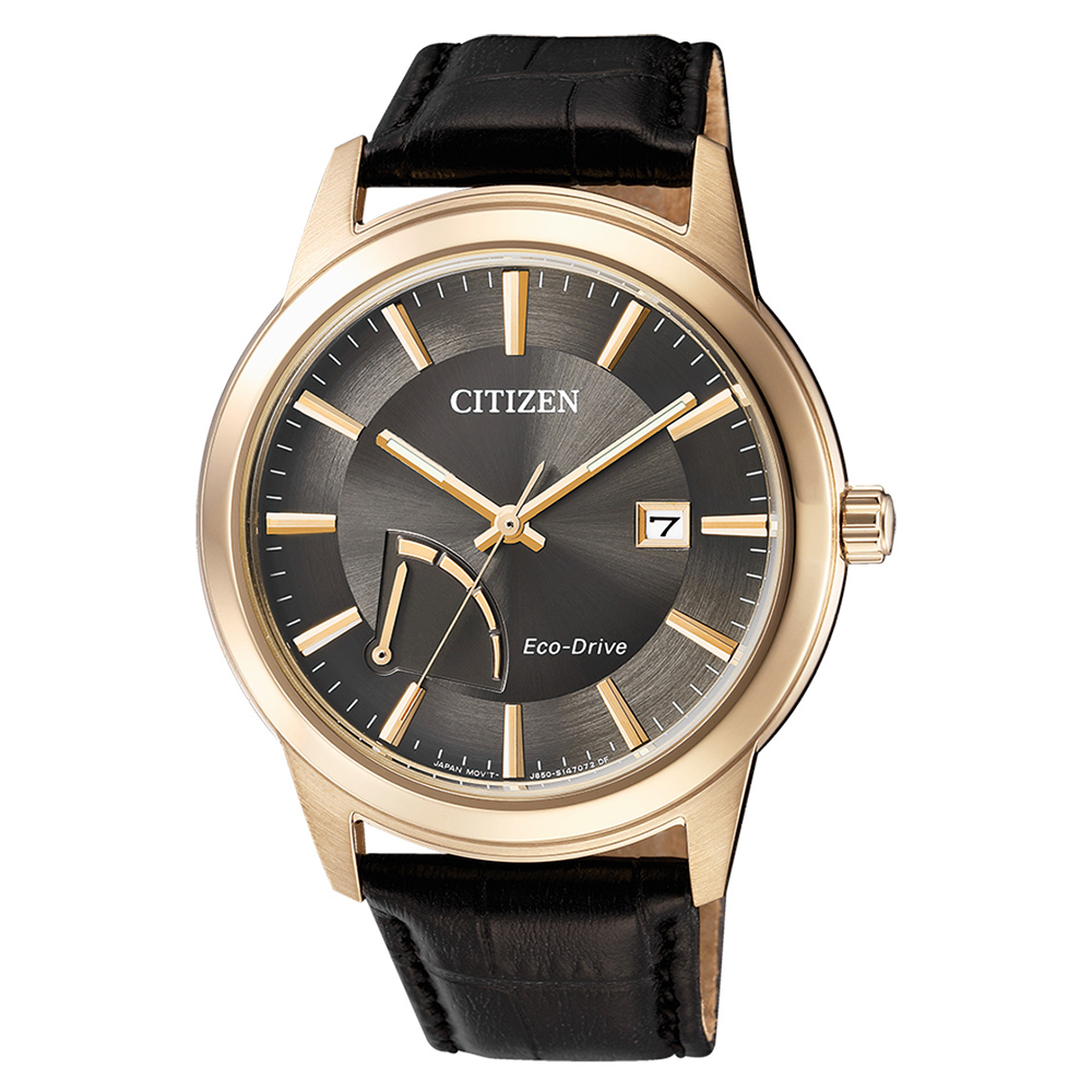 CITIZEN  時尚逸品光動能石英腕錶(AW7013-05H)-灰/41mm