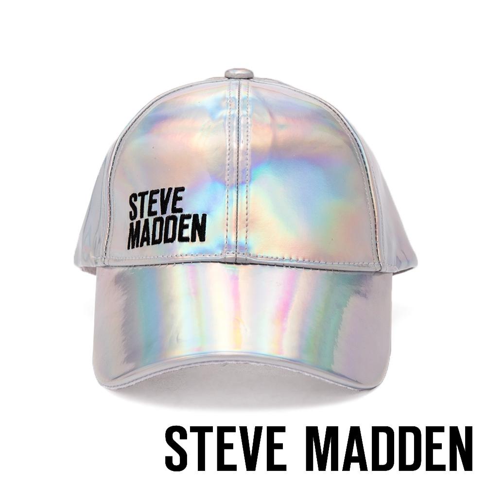 STEVE MADDEN - 時尚經典品牌LOGO棒球帽 - 銀色