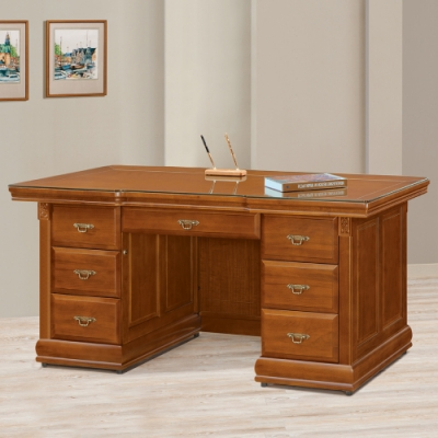 AS-坎蒂絲全實木6尺辦公桌-175x83x82cm
