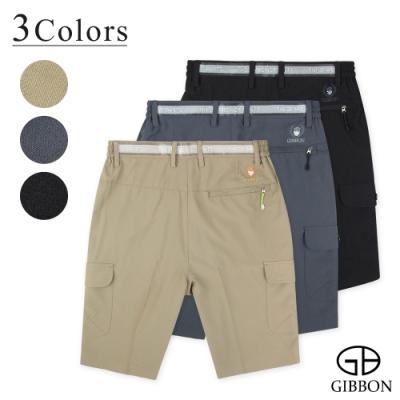 GIBBON 速乾Super Stretch設計腰帶鬆緊短褲-三色