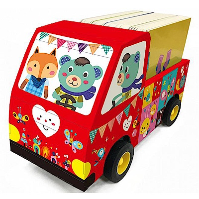 汽車玩具書 套裝 (汽車顏色隨機出貨)