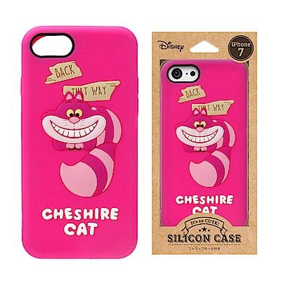 iPhone 8/7 迪士尼 正版授權 可愛/矽膠 手機軟殼 4.7吋-柴郡貓