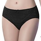 思薇爾 輕沁舒系列M-XXL蕾絲中腰三角內褲(黑色)