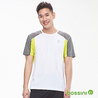 bossini男裝-ZtayDry快乾圓領短袖T恤03白