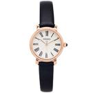 SEIKO 羅馬優雅風格皮革錶帶款手錶(SRZ500P1)-銀面X黑色/28mm