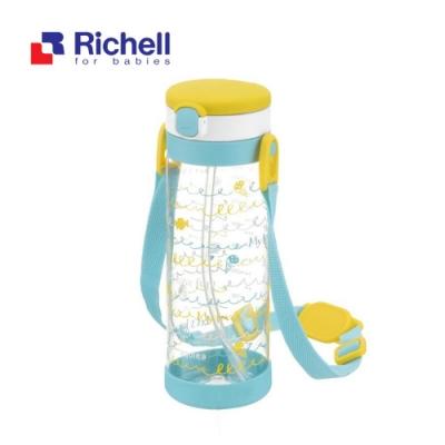 【Richell 利其爾】第一代LC 450ml 吸管式冷水壺 - 棒棒糖 【附背帶】