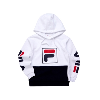 FILA KIDS 童長袖針織帽T恤-白 1TET-8449-WT