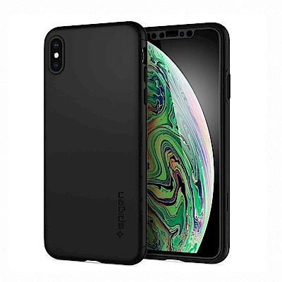 SGP iPhone Xs Max Thin Fit 360-手機保護殼-含玻璃保貼