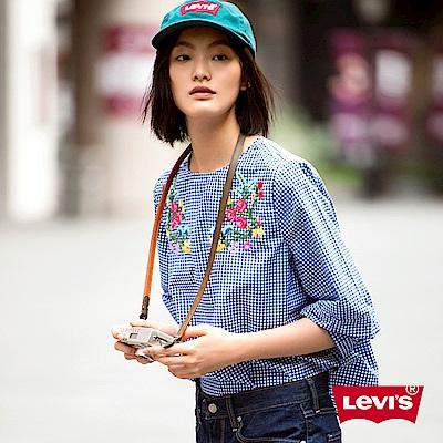 Levis 襯衫 女裝 格紋 復古花紋刺繡
