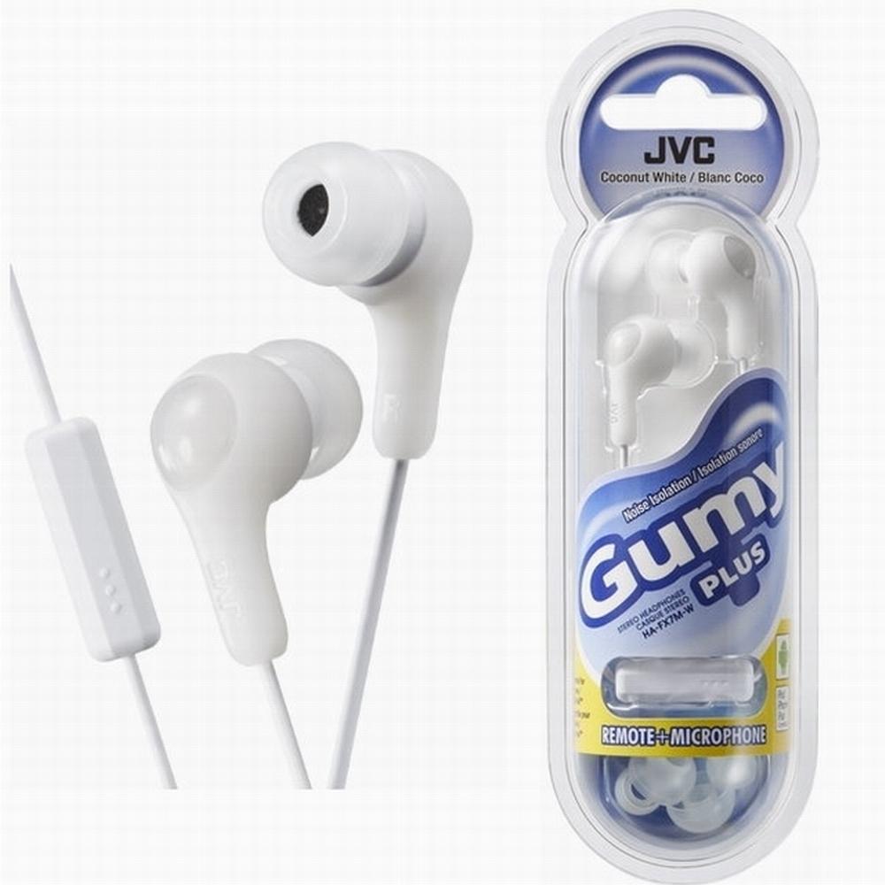 JVC 繽紛果凍系入耳式耳機(附麥克風)HA-FX7M