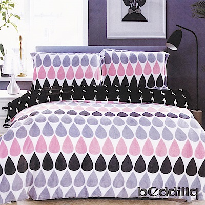 BEDDING-活性印染5尺雙人薄床包涼被組-天空之淚