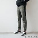 GIORDANO 男裝修身拼接運動休閒束口褲 -56 深軍綠