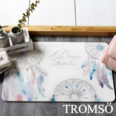 TROMSO 珪藻土厚實吸水地墊-羽毛捕夢網