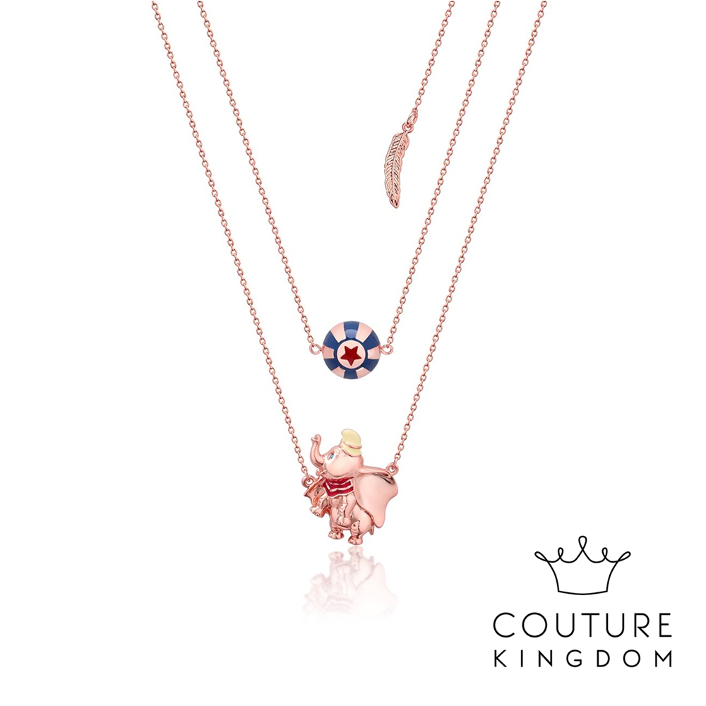 Disney Jewellery by Couture Kingdom小飛象雙層玫瑰金項鍊