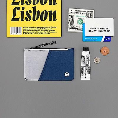 BNTP 雙色票卡零錢包-自信藍