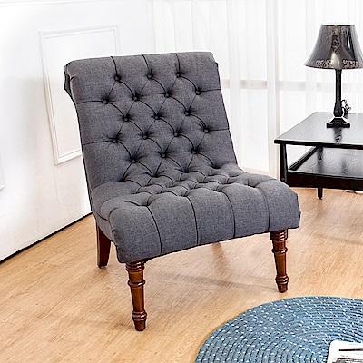 Bernice-亞爵美式復古風布沙發單人座椅(灰色)(二入組合)