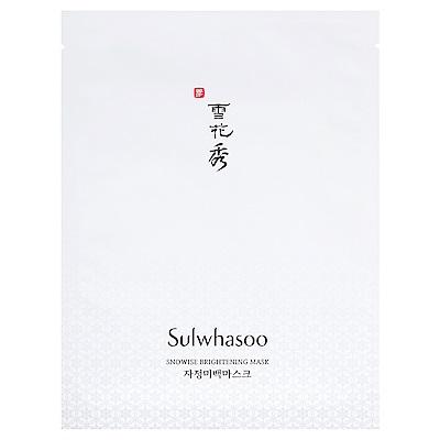 (即期品)Sulwhasoo雪花秀 滋晶雪瀅煥白面膜(1片)20g