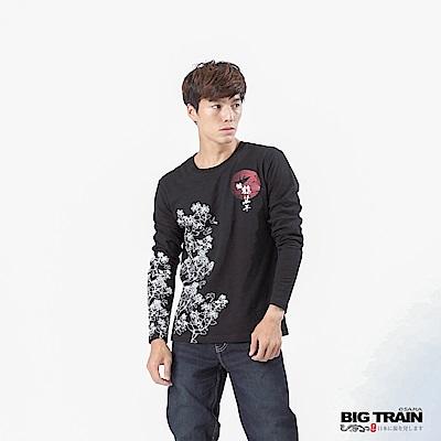 BIG TRAIN 福鶴千年長袖T-男-黑色