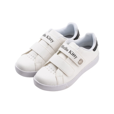 HELLO KITTY艾樂跑女鞋-魔鬼氈休閒鞋 板鞋-白/黑(918311)