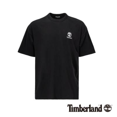 Timberland 男款黑色背後美式大印花寬鬆短袖T恤|A1YKG
