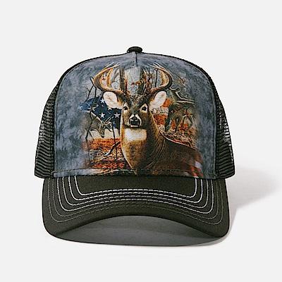 摩達客美國The Mountain愛國雄鹿藝術棒球帽網帽5-Panel新五分割帽