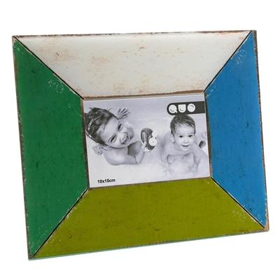 《VERSA》復古仿木紋相框(藍綠4x6吋)
