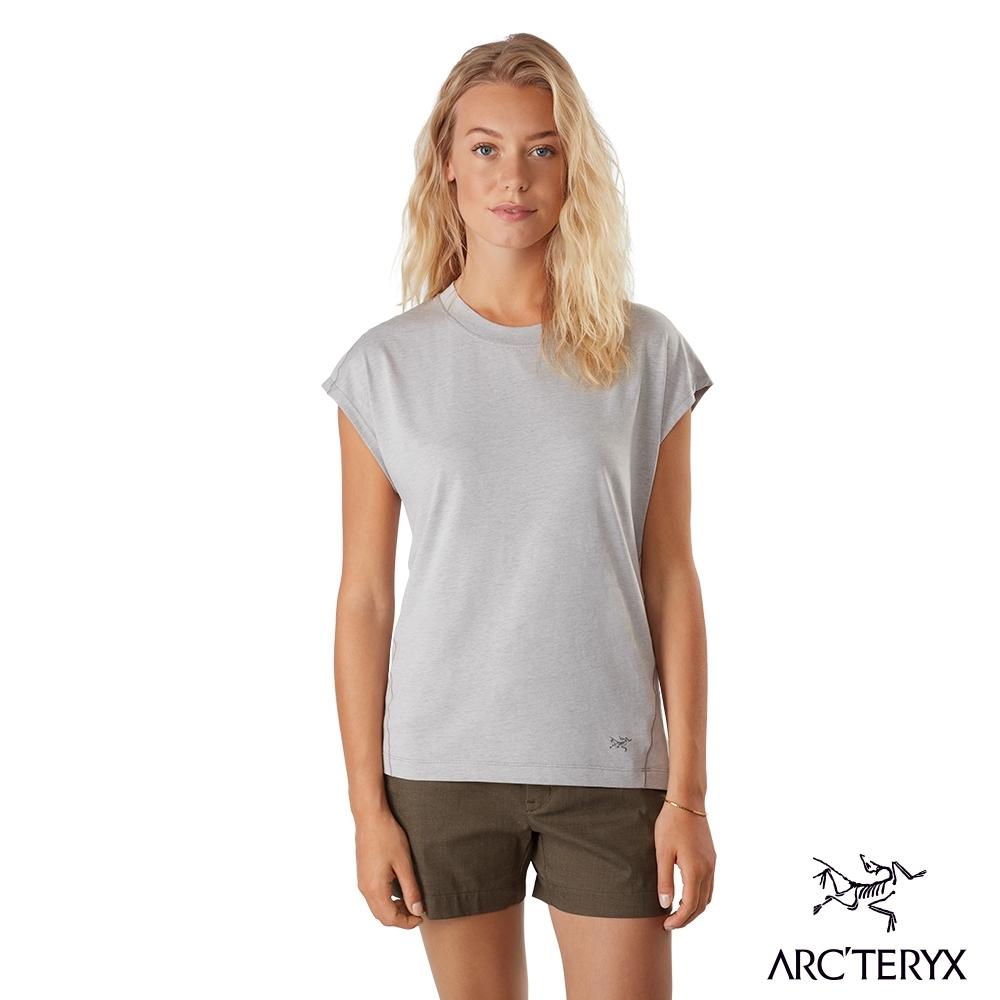 網路獨家●Arcteryx 始祖鳥 女 24系列 Ardena 有機棉 短袖T恤 突觸粉