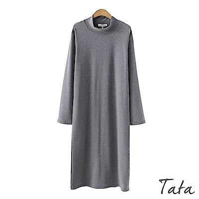 高領後開叉洋裝 共二色 TATA