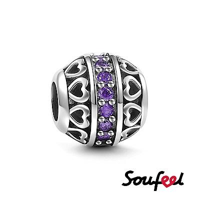 SOUFEEL索菲爾 925純銀珠飾 生日石 二月 串珠