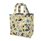 Reiko Aoki 青木禮子 Dogs-custom彩繪防水小型手提袋-淺黃色