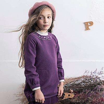 PIPPY 典雅氣質小花洋裝 深紫