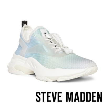 STEVE MADDEN-MATCH LOGO素面增高休閒鞋-藍色