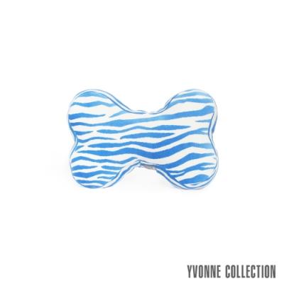 Yvonne Collection 斑馬紋車用骨頭頸部抱枕-藍