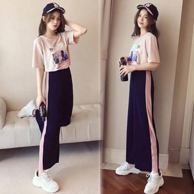 【韓國K.W.】迷情花邊韓時尚運動套裝