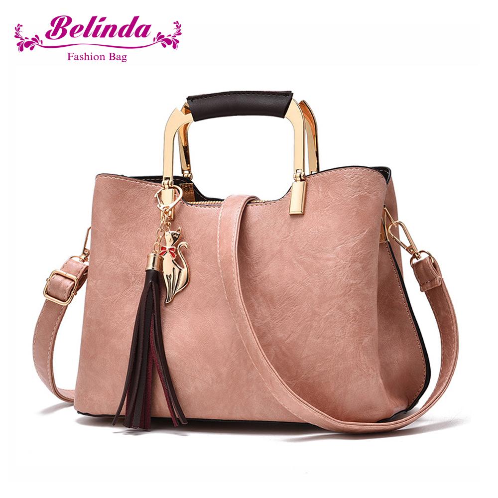 Belinda 納塔爾淑女方型鐵環手提側背包(三色)
