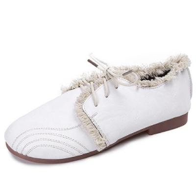 KEITH-WILL時尚鞋館 特惠款歐美復古休閒鞋-白