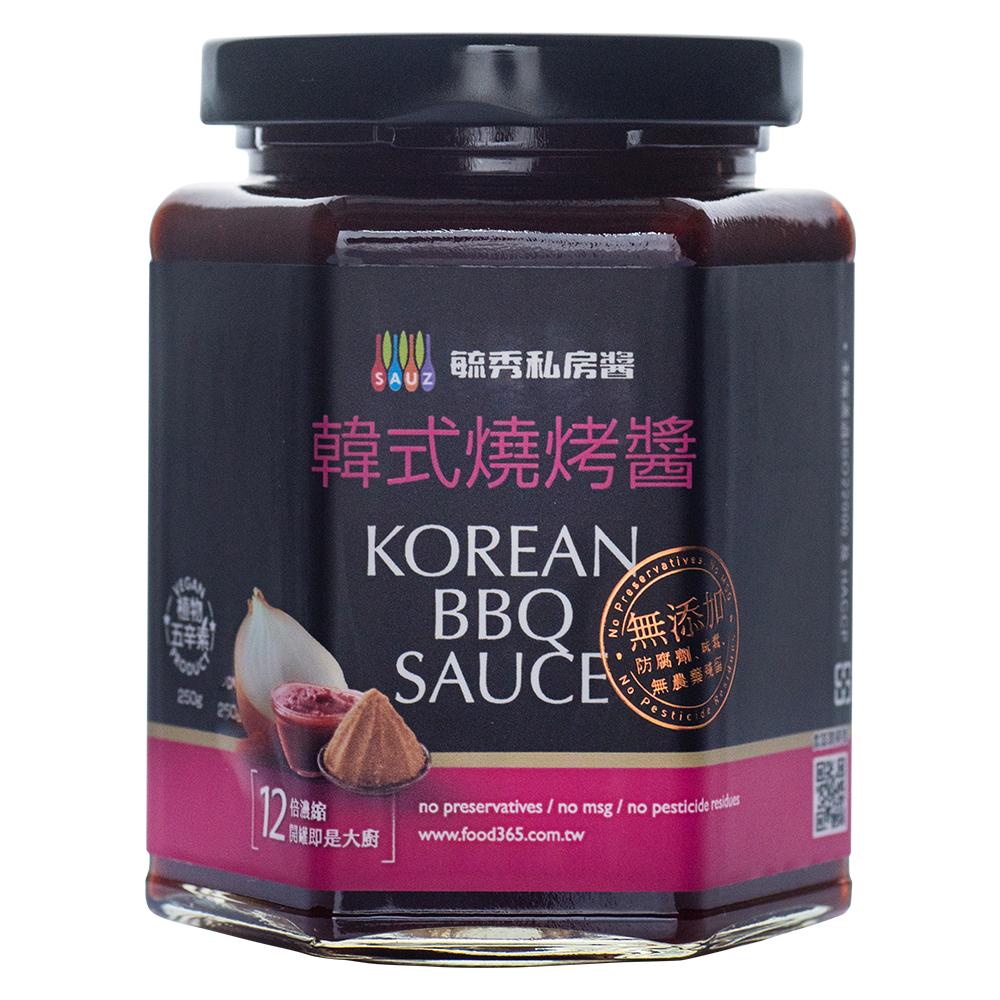 毓秀私房醬 韓式燒烤醬(250g/罐)*4罐組
