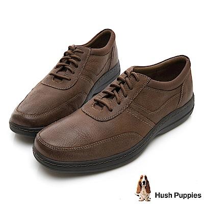 Hush Puppies ELKHOUND 超彈力綁帶休閒鞋-紅棕