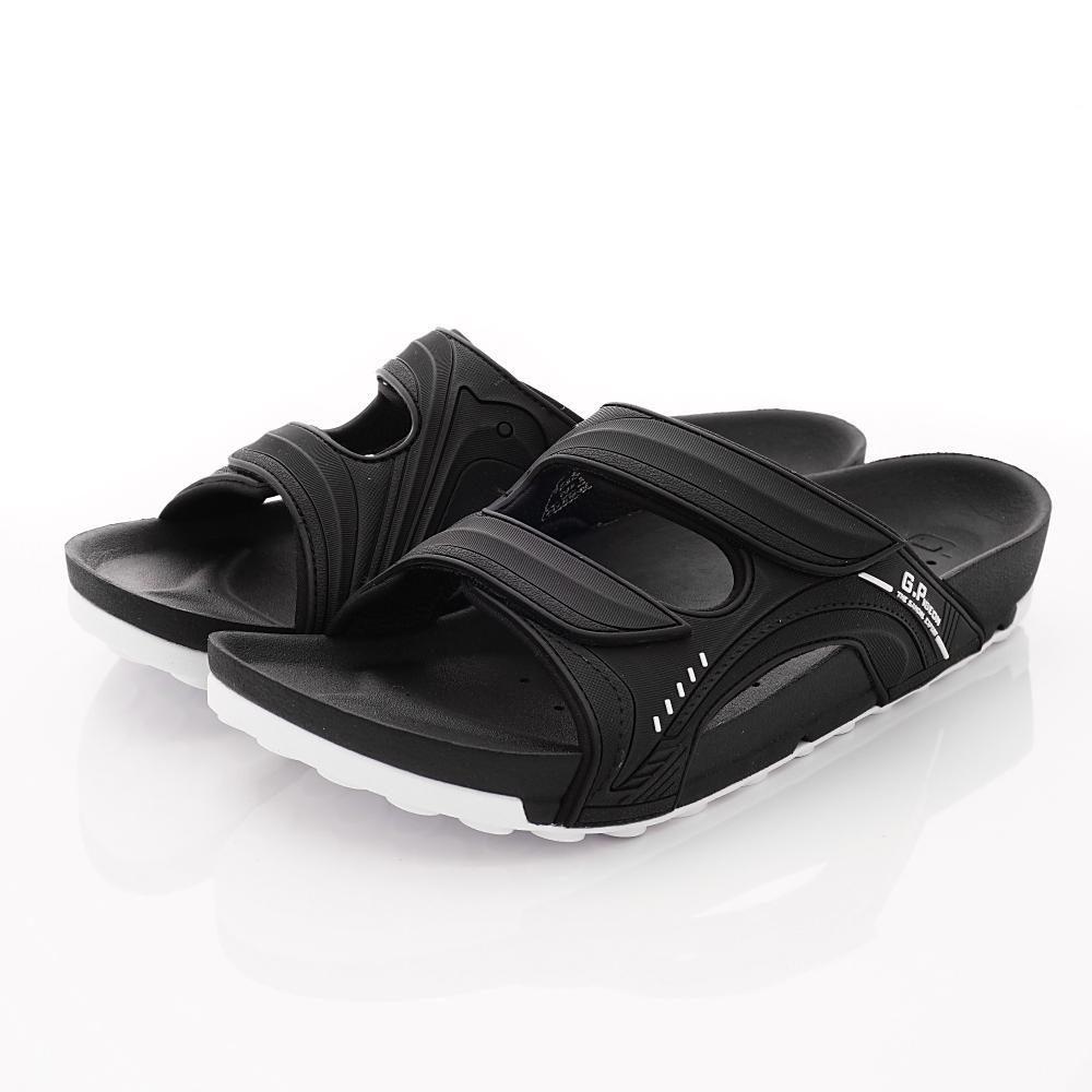 GP時尚涼拖-排水休閒涼拖鞋-NI030M-10黑(男段)
